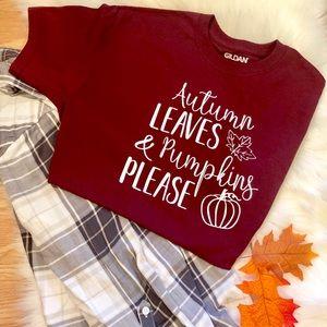 Maroon Fall T-shirt 🍁